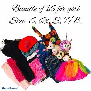 Top, skirt, short, pant, hats, toys, leg warmers